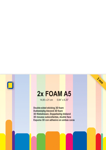 3.3241 Foam A5 1 mm 2 sheets