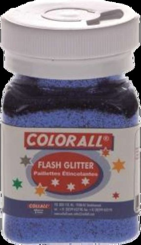COLFG150-01 Colorall Flash-Glitter strooiflacon middel 150ml/95gr blauw
