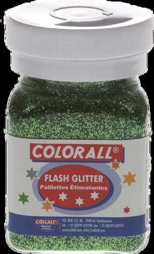 COLFG150-20 Colorall Flash-Glitter strooiflacon middel 150ml/95gr groen