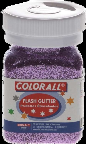 COLFG150-50 Colorall Flash-Glitter strooiflacon middel 150ml/95gr roze