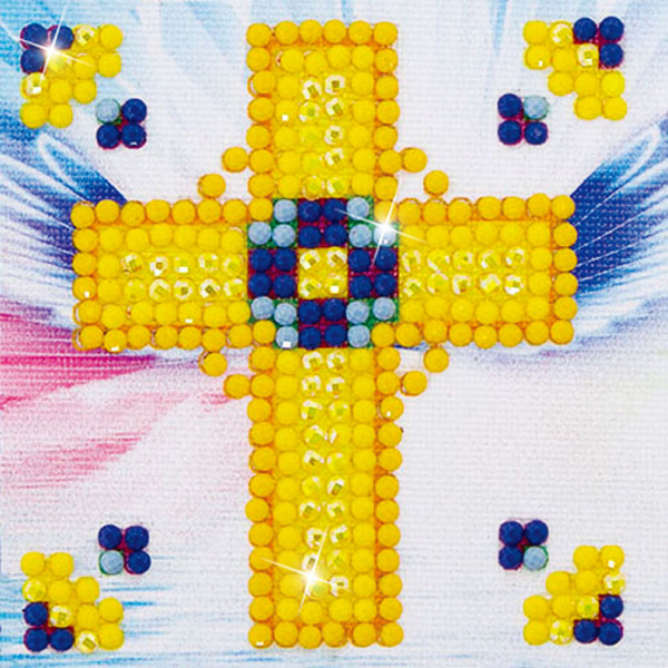 DDS.003 Diamond Dotz - 7x7cm - Golden Cross