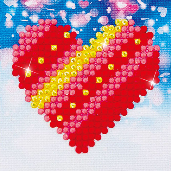 DDS.007 Diamond Dotz - 7x7cm - PatchWork Heart
