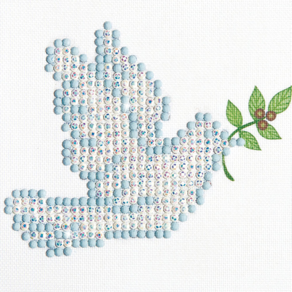 DD1.001 Diamond Dotz® - 10,2x10,2cm - Dove of Peace