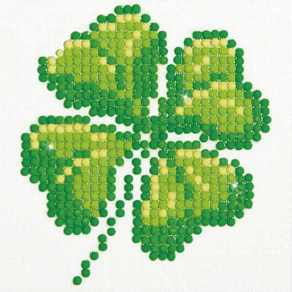 DD1.017 Diamond Dotz® - 10,2x10,2cm - Four Leaf Clover