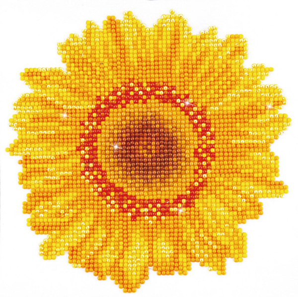 DD3.004 DIAMOND DOTZ® - 20x20cm - Happy Day Sunflower