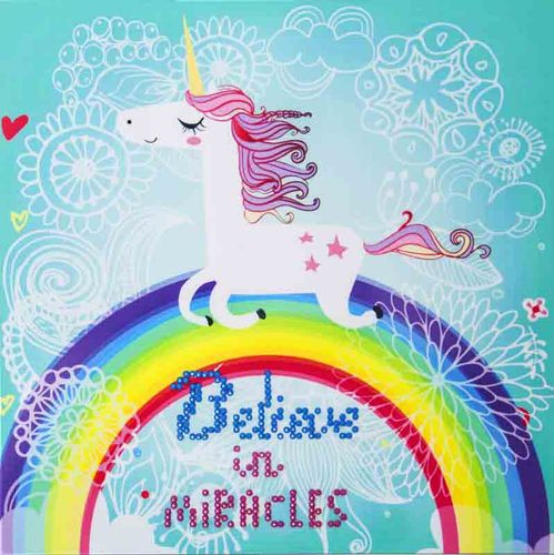 DD3.007 Diamond Dotz - 25x25cm - Believe in Miracles