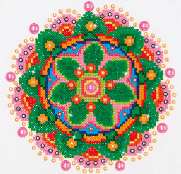 DD3.008 Diamond Dotz - 20,3x25,4cm - Flower Mandala