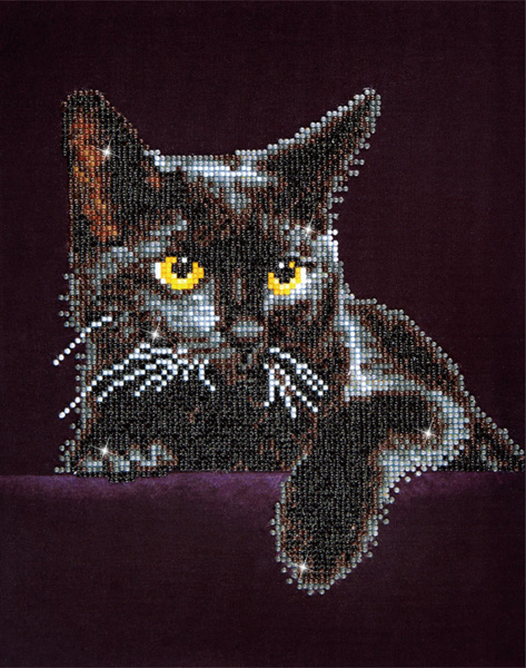 DD5.001 Diamond Dotz® - 27,9x35,5cm - Midnight Cat