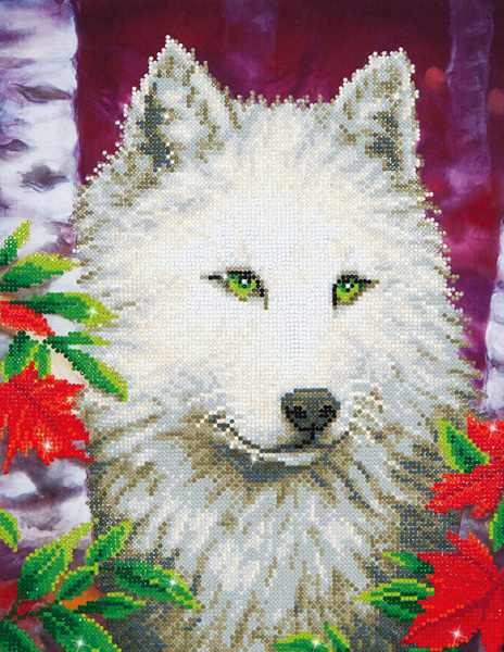 DD7.007 DIAMOND DOTZ® - 35.5x45.72cm - White Wolf
