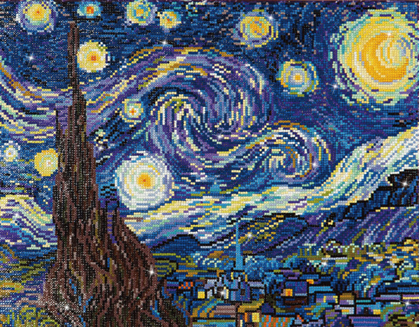 DD9.001 DIAMOND DOTZ® - 50.8x40.6cm - Starry Night (Van Gogh)