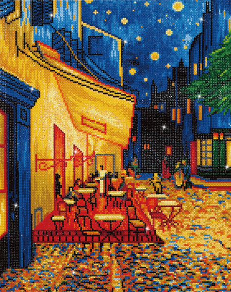 DD10.005 DIAMOND DOTZ® - 52x42cm - Caf at Night (Van Gogh)