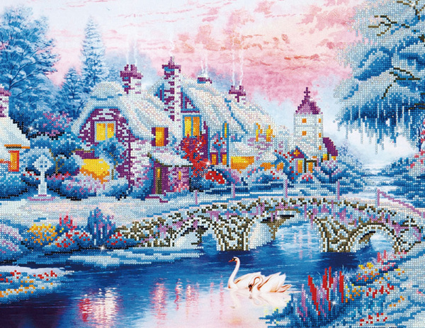 DD12.010 DIAMOND DOTZ® - 79x50cm - Winter Village