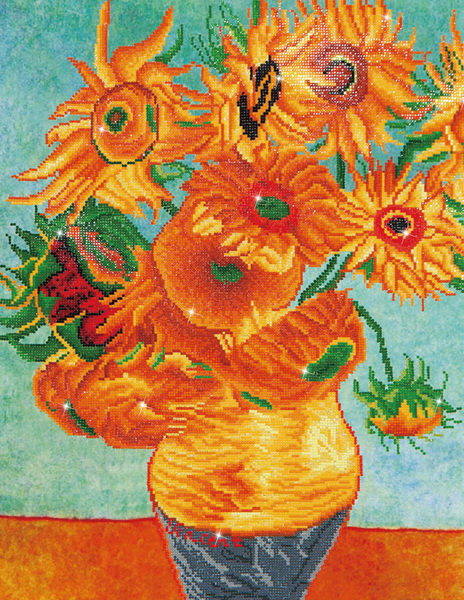 DD13.011 Diamond Dotz - 71x56cm - Sunflowers (Van Gogh)