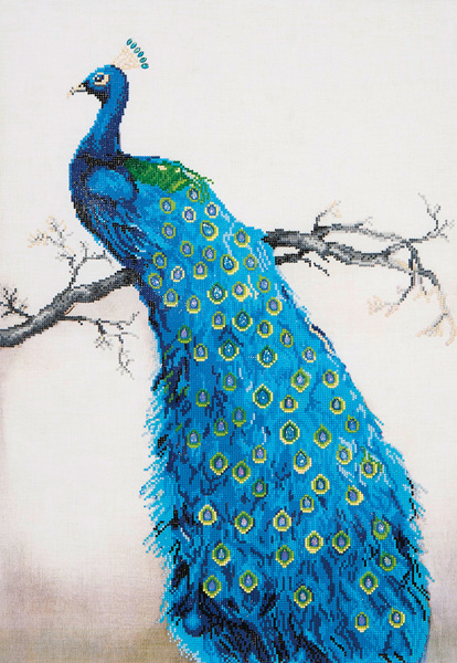 DD13.012 Diamond Dotz® - 60x84cm - Blue Peacock