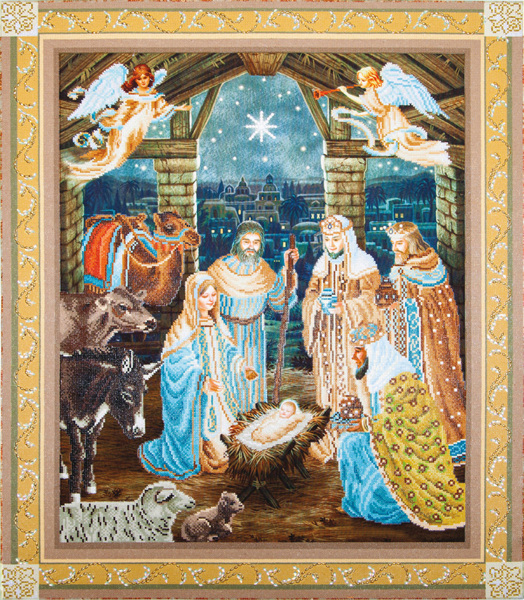 DD15.002 Diamond Dotz® - 85x100cm - Nativity Scene