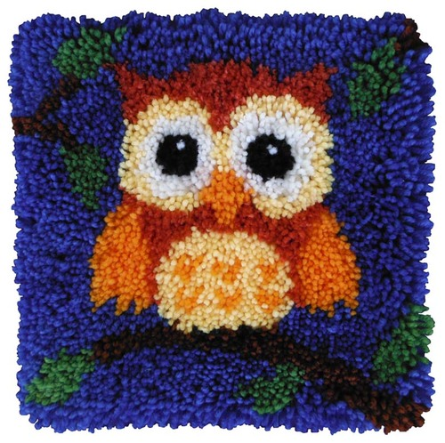 20.001 Latch Hook 30x30cm Baby Owl