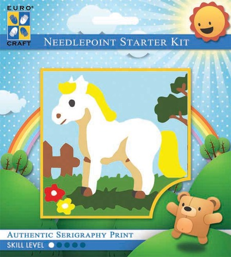 1030K - Eurocraft NEEDLEPOINT KIT 10x10cm Pretty Pony