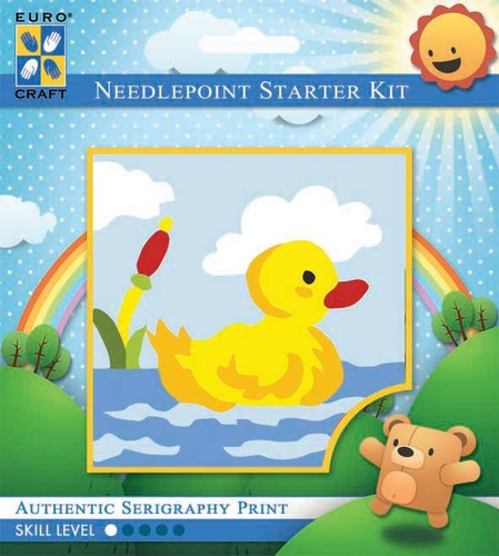 1035K - Eurocraft NEEDLEPOINT KIT 10x10cm Paddling Duck