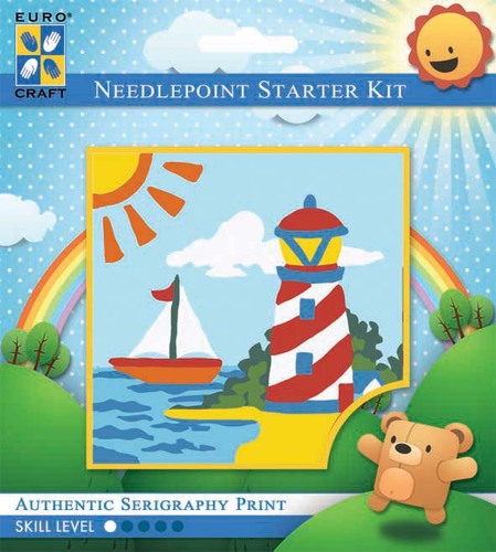 1047K - Eurocraft NEEDLEPOINT KIT 10x10cm Lighthouse