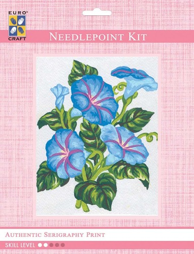 3038K - Eurocraft NEEDLEPOINT KIT 10x10cm Morning Glory