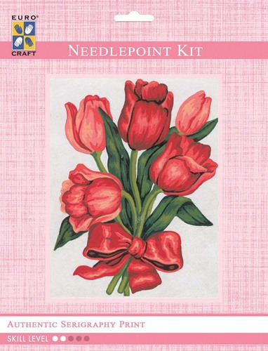 3045K - Eurocraft NEEDLEPOINT KIT 14x18cm Tulips