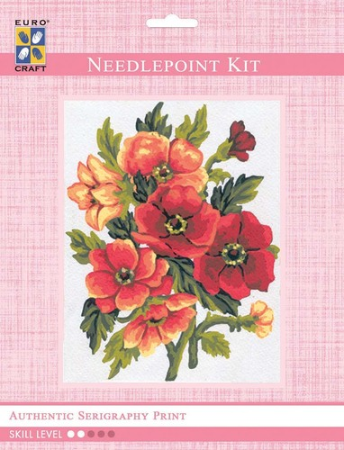 3049K - Eurocraft NEEDLEPOINT KIT 14x18cm Anemones