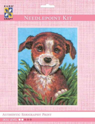 3080K - Eurocraft NEEDLEPOINT KIT 14x18cm Happy Pup