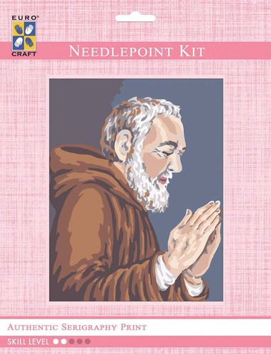 3100K - Eurocraft NEEDLEPOINT KIT 14x18cm Padre Pio Praying