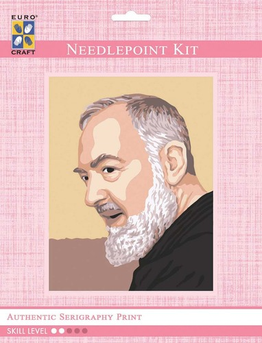 3101K - Eurocraft NEEDLEPOINT KIT 14x18cm Padre Pio Profile