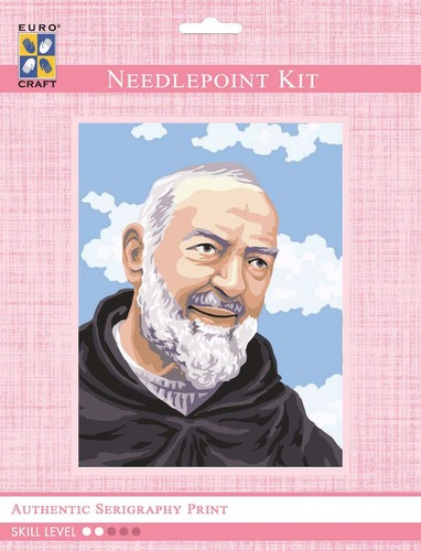 3102K - Eurocraft NEEDLEPOINT KIT 14x18cm Padre Pio Portrait