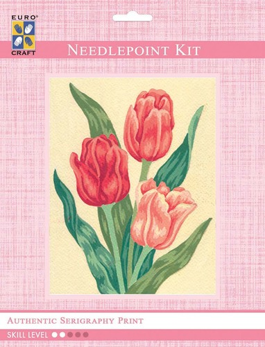 3105K - Eurocraft NEEDLEPOINT KIT 14x18cm Tulips