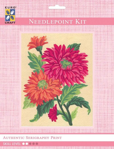 3115K - Eurocraft NEEDLEPOINT KIT 14x18cm Orange Daisies