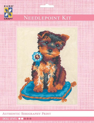3141K - Eurocraft NEEDLEPOINT KIT 14x18cm Prize Winning Terrier