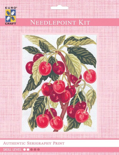 3164K - Eurocraft NEEDLEPOINT KIT 14x18cm Cherries