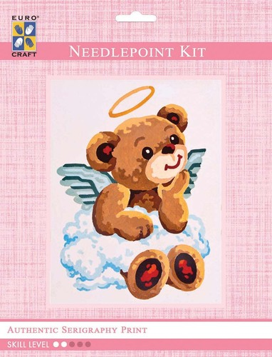 3179K - Eurocraft NEEDLEPOINT KIT 14x18cm Angel Bear