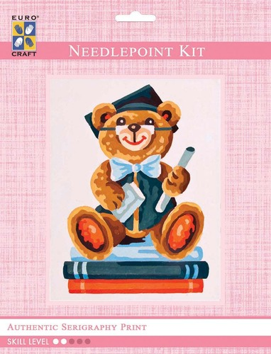 3180K - Eurocraft NEEDLEPOINT KIT 14x18cm Graduation Bear