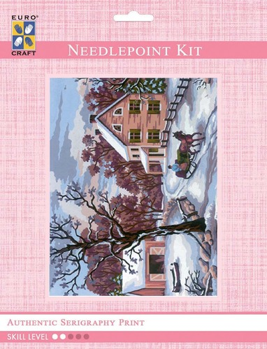 3207K - Eurocraft NEEDLEPOINT KIT 14x18cm Winter