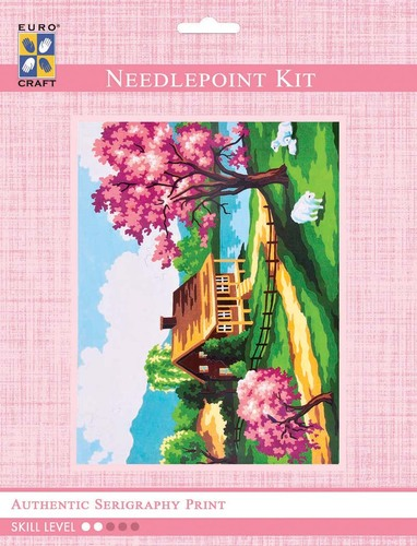 3208K - Eurocraft NEEDLEPOINT KIT 14x18cm Spring