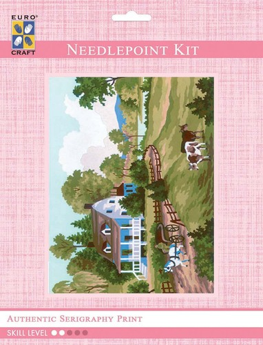 3209K - Eurocraft NEEDLEPOINT KIT 14x18cm Autumn