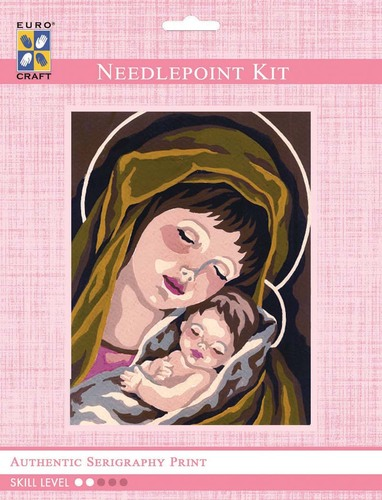 3217K - Eurocraft NEEDLEPOINT KIT 14x18cm Madonna & Child I