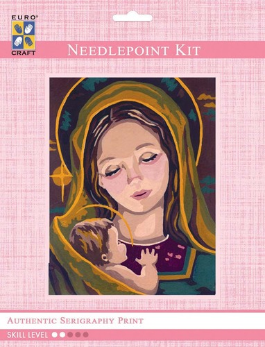 3218K - Eurocraft NEEDLEPOINT KIT 14x18cm Madonna & Child II