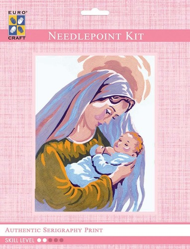 3219K - Eurocraft NEEDLEPOINT KIT 14x18cm Mother & Child