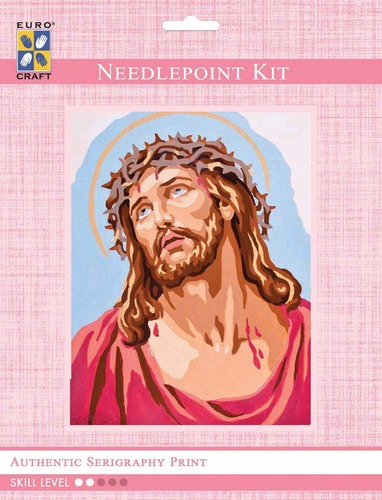 3220K - Eurocraft NEEDLEPOINT KIT 14x18cm Christ