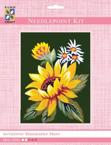3280K - Eurocraft NEEDLEPOINT KIT 14x18cm Sunflower and Daisies