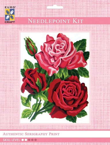 3282K - Eurocraft NEEDLEPOINT KIT 14x18cm Trio of Roses