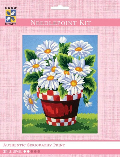 3284K - Eurocraft NEEDLEPOINT KIT 14x18cm White Daisies