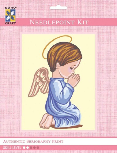 3301K - Eurocraft NEEDLEPOINT KIT 14x18cm Angel Boy Praying Silhouette