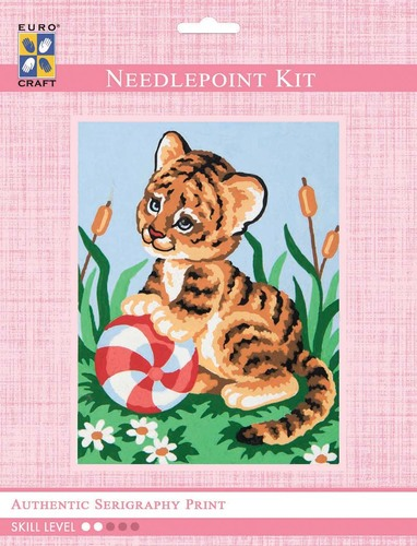 3311K - Eurocraft NEEDLEPOINT KIT 14x18cm Baby Tiger