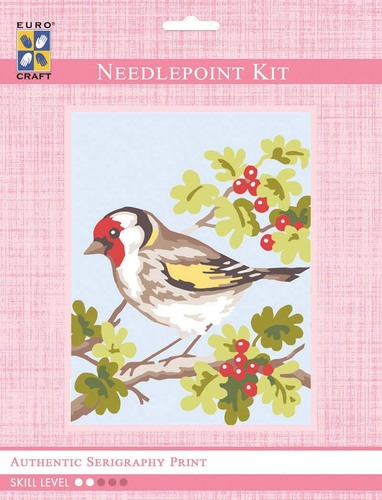 3316K - Eurocraft NEEDLEPOINT KIT 14x18cm White Wren