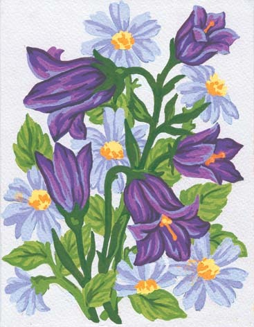 3041 Needlepoint Canvas 14x18cm Bluebells